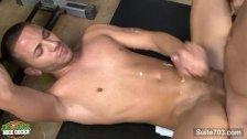 Sexy gay jocks sucking dicks in locker room