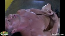 Hot gay athlete Adam Hart masturbating
