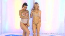 Tiffany Chambers & Ashley Emma in pool