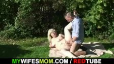 Wife catches his cheating outdoor
