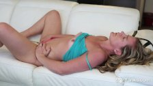 Busty Blonde Claudia Masturbating