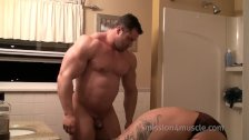 Big Max and Jake Jetro in the shower