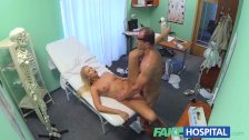 FakeHospital Busty blonde recieves a creampie