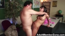 Naughty Nadia fucking her teacher to get out
