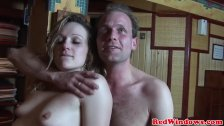 Closeup dutch hooker showing her creampie