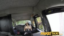 : FakeTaxi Huge tits and a big hairy pussy