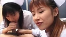 Saki and other nurse suck same patient cock