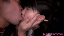 Petite Japanese girl ass crack fucked