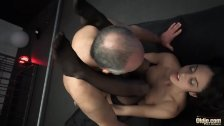 Teen hot mistress dominates oldman in attic