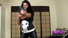 COSPLAY BABES The Punisher has huge tits