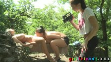 Girlfriends Three babes outdoor fun part one
