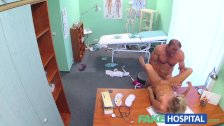 FakeHospital Slim blonde gets creampied - duration 11:44