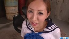 Erena Aihara moans while being stimulated wi
