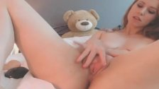 My Friend Redhead Babe Plays her Pussy