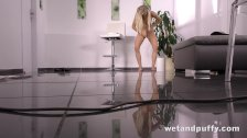 Long haired blonde in a hot solo scene