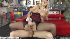 RoccoSiffredi Huge Natural Tits and Anal Sex