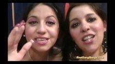 cute teens in her first gangbang