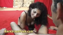 Gipsy MILF gets her pussy licked and gives BJ
