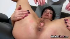 Young boy spreading old pussy Greta pov zoome
