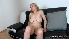 Pov old pussy spreading of lady Gabina