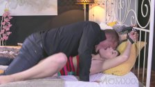 : MOM Housewife is tied to the bed and fucked