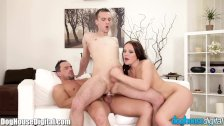 DogHouse Bi-Curious Couple Anal Threesome