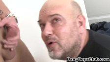 Ethnic daddy cocksucking for cash