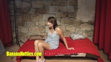 Cute newbie at her very first erotic casting