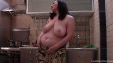 Fat BBW MILF Has Some Fun In The Kitchen