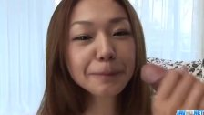 Sakura Hirota sucks cock while casting for p