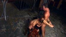 Rita having anal sex in black fishnet