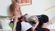 Nina Elle shares Cock with her Daughter
