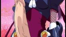 Hentai brunette sucks and analed