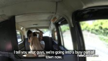 Boyfriend fucks slut at taxi seat