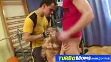 Hairy mom Barbora rough anal fuck and dp