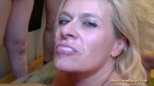 busty pierced stepmom gangbang