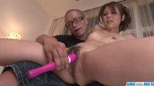 Rosa Kawashima removes panties for a good toy