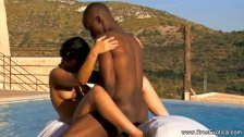 Ebony Lovers Making Their Love in the Morning