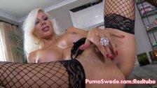 Euro Blonde Stunner Puma Swede Cums Hard!