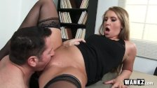 Sexy Office Slut Earns A Hardcore Raise!