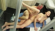 Hot Busty Teenager Fucking With Old Stallions