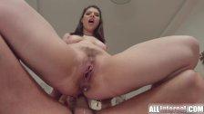 Allinternal brunette tastes her anal creampie