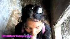 Heather Deep explores trail in jungle and get