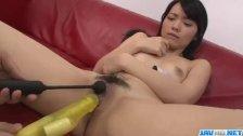 Seduced babe, Hikaru Morikawa, gets toys in h