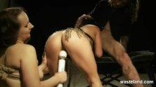 Sex slave sucks her Masters cock