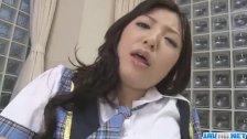 Ayane Okura sweet schoogirl masturbating