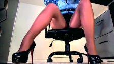 Compilation of secretary legs and masturbatio