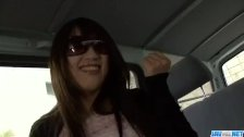 Serina amazing porn play in the car along her