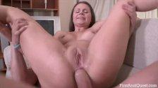Anal Penetration of a Teen Girl's Ass
