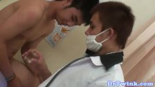 Asian twink sucked and barebacked by doctor